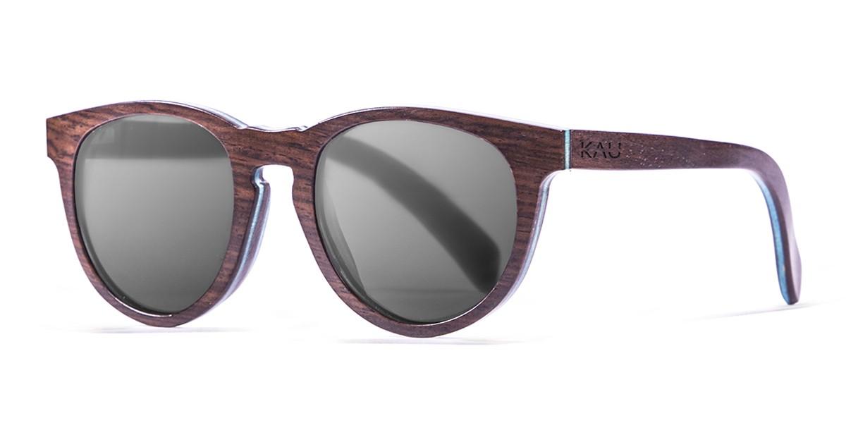 Berlin dark brown polarized wooden sunglasses side