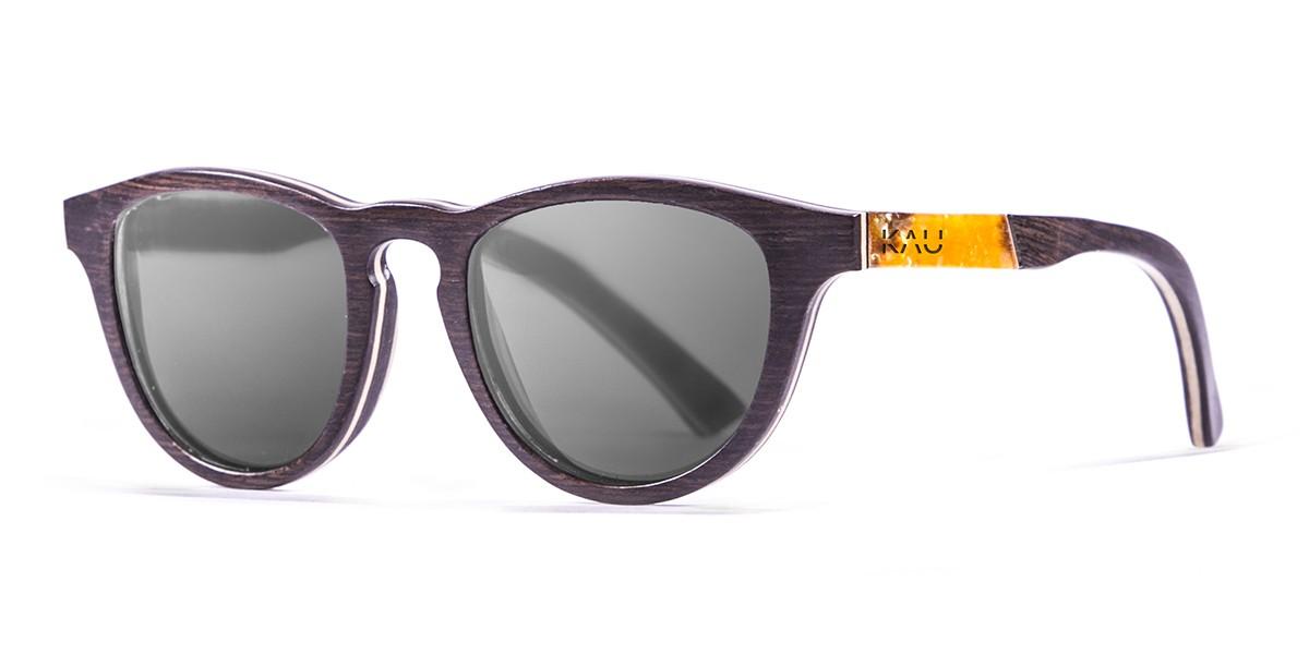 DONOSTIA brown wooden frame  polarized  sunglasses Kauoptics front