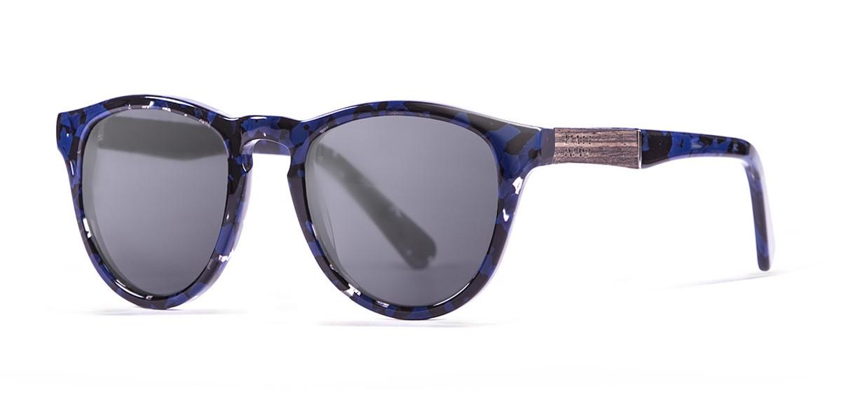Florencia blue tortoise polarized sunglasses side