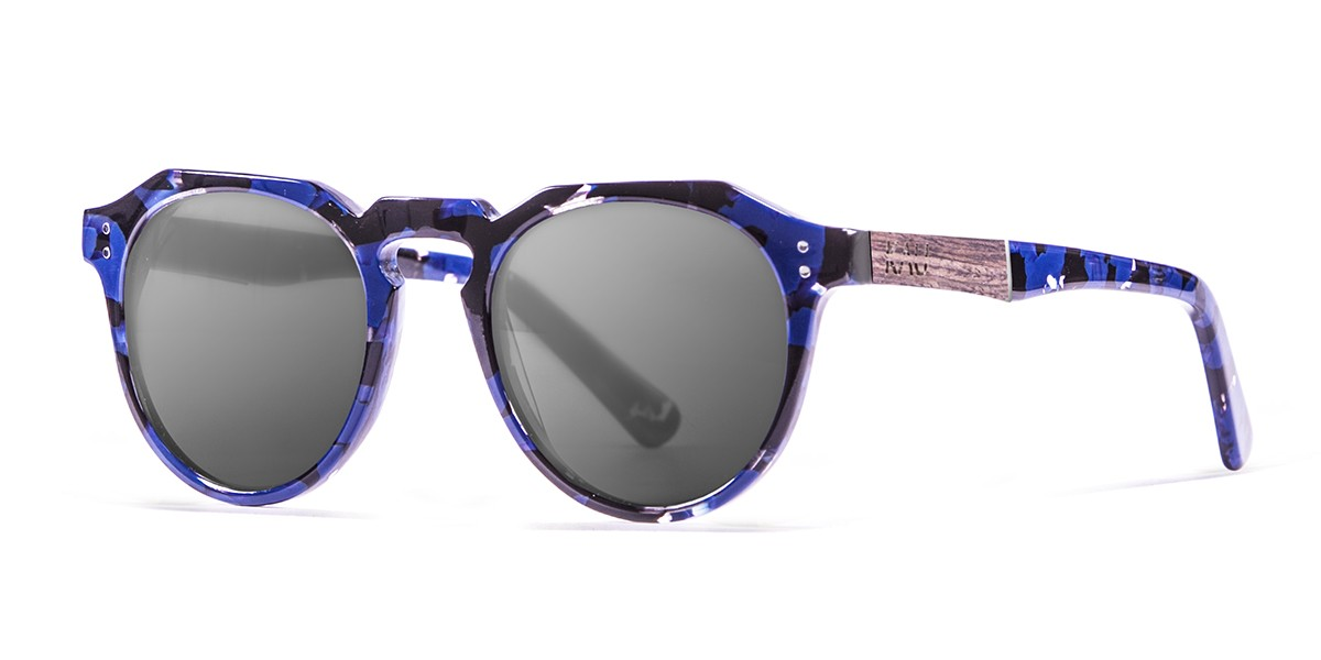 PAris blue tortoise polarized sunglasses side