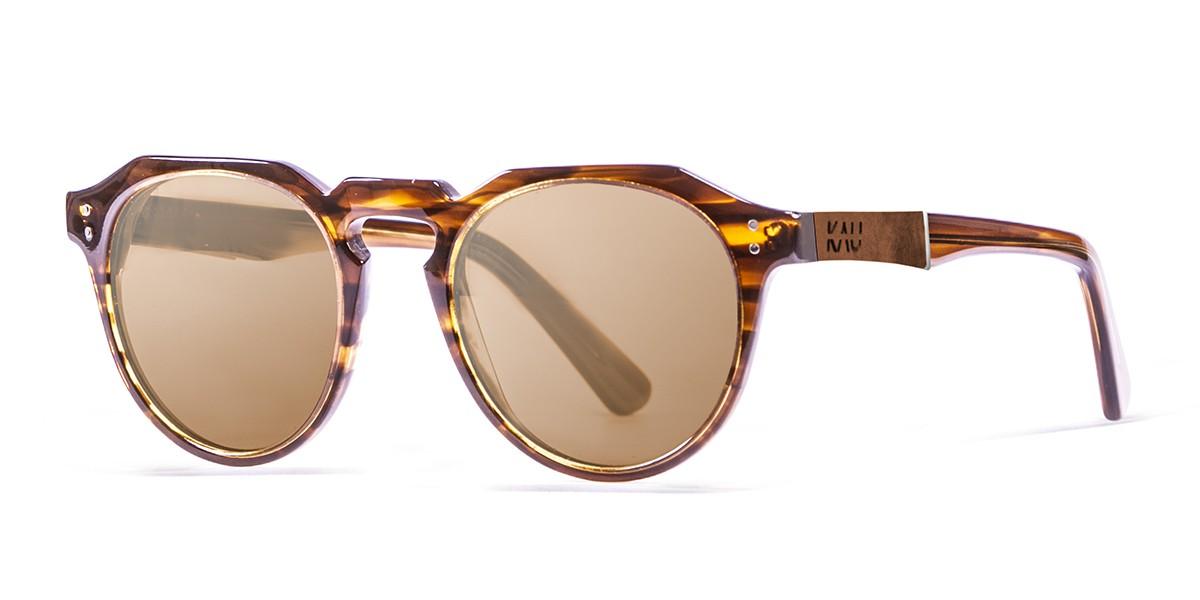 PAris demy brown polarized sunglasses side