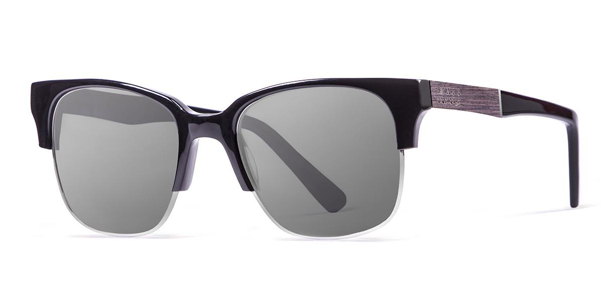 BUENOS AIRES dark brown wooden frame  polarized  sunglasses Kauoptics front