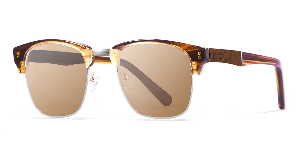 Shangay demy brown polarized sunglasses side
