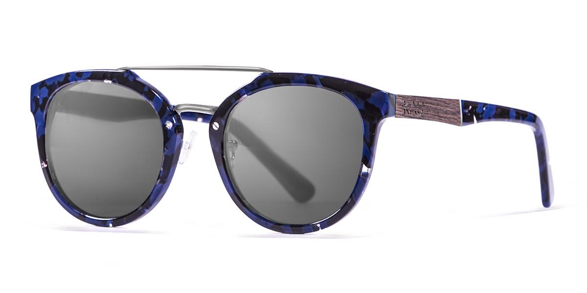 San Francisco Acetate polarized black frame sunglasses Kauoptics side