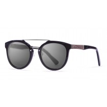 San Francisco Acetate polarized black frame sunglasses Kauoptics front