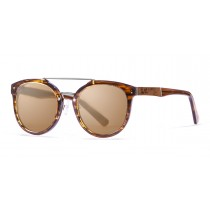 San Francisco Acetate polarized brown frame sunglasses Kauoptics front